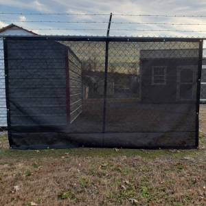 Custom Privacy Screen Fence Windscreen Tarp Cover - 9.5oz Knitted Mesh 95% Solid
