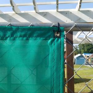 Custom Privacy Screen Fence Windscreen Tarp Cover - 9oz Vinyl Coated Mesh 80% Solid