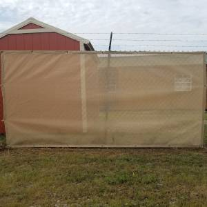 Custom Privacy Screen Fence Windscreen Tarp Cover- 8.25oz Knitted Mesh 70% Solid