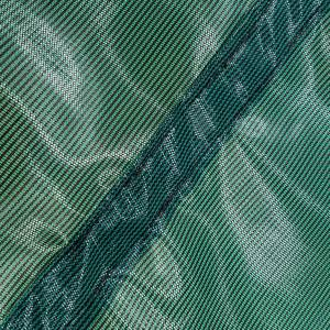 Custom Rectangle Shaped Tarp Cover - 4.1oz Closed Mesh 95% Solid Green/Black