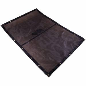 Custom Rectangle Shaped Tarp Cover - 7.5oz Closed Mesh 95% Solid Black