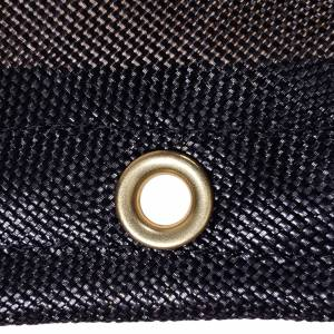 Custom Rectangle Shaped Tarp Cover - 7.5oz Closed Mesh 95% Solid Black