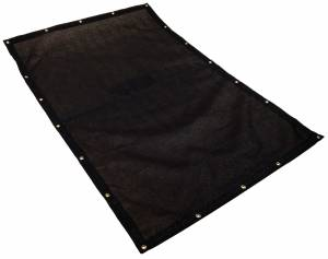 Custom Rectangle Shaped Tarp Cover - 9.5oz Knitted Mesh 95% Solid