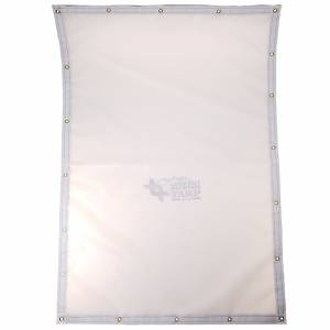 Custom Rectangle Shaped Tarp Cover - 9oz Vinyl Coated Mesh 80% Solid
