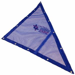 Custom Right Triangle Shaped Tarp Cover - 11oz Vinyl Coated Mesh 55% Solid
