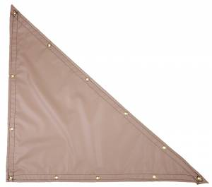 Custom Right Triangle Shaped Tarp Cover - 13oz Solid Vinyl Laminated Polyester