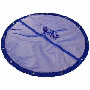 Custom Round Shaped Tarp Cover - 11oz Vinyl Coated Mesh 55% Solid