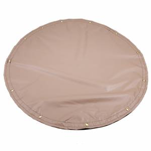 Custom Round Shaped Tarp Cover - 13oz Solid Vinyl Laminated Polyester