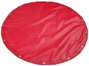 Custom Round Shaped Tarp Cover 18oz Solid Vinyl Coated