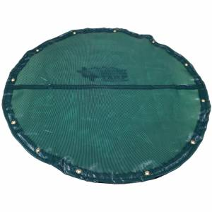 Custom Round Shaped Tarp Cover - 4.1oz Closed Mesh 95% Solid Green/Black