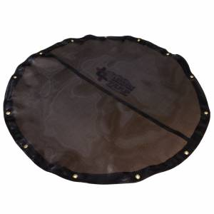 Custom Round Shaped Tarp Cover - 7.5oz Closed Mesh 95% Solid Black