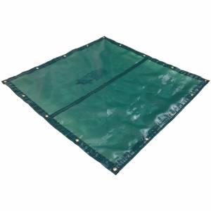 Custom UV Shade Cloth Tarp Cover  - 4.1oz Closed Mesh 95% Solid Green/Black