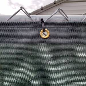 Custom Privacy Fence Screen Windscreen Tarp - 8oz Vinyl Coated Mesh Grommets