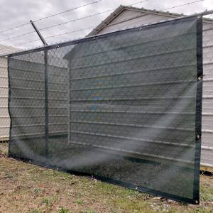 Custom Privacy Fence Screen Windscreen Tarp - 8oz Vinyl Coated Webbing Reinforced