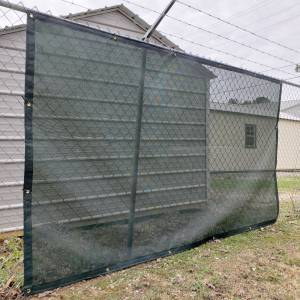 Custom Privacy Fence Screen Windscreen Tarp - 8oz Vinyl Coated Mesh 80% Solid