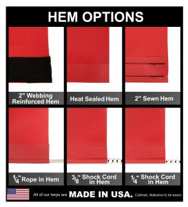 Lookout Mountain Tarp - Custom Rectangle Shaped Tarp Cover - 7.5oz Closed Mesh 95% Solid Black - Image 10