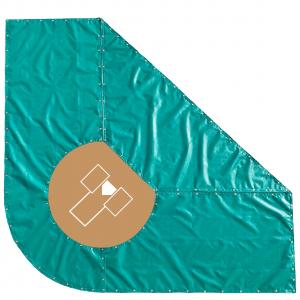 Baseball-Batting-Practice-Trapezoid-Shaped-Infield-Turf-Protection-Cover-Tarp